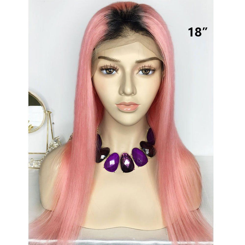 Lace Front Cap Human Hair Straight Women 130% Wigs
