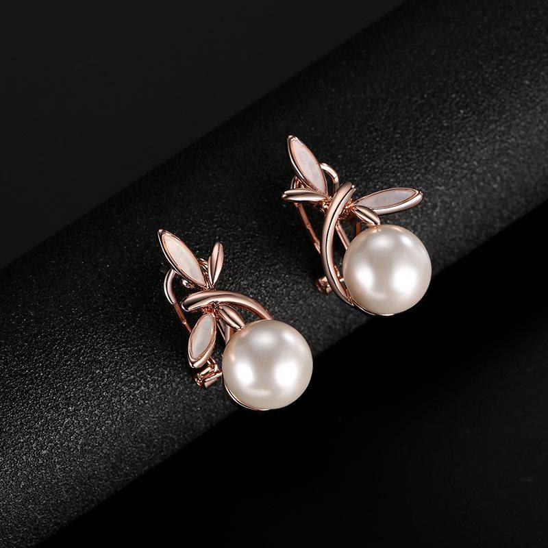 E-Plating Plant Earrings Prom Jewelry Sets