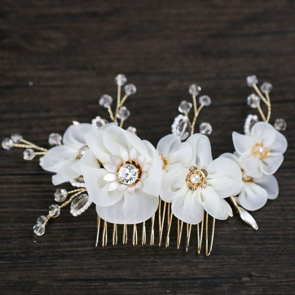 Pearl Inlaid Korean Hair Comb Engagement Hair Accessories