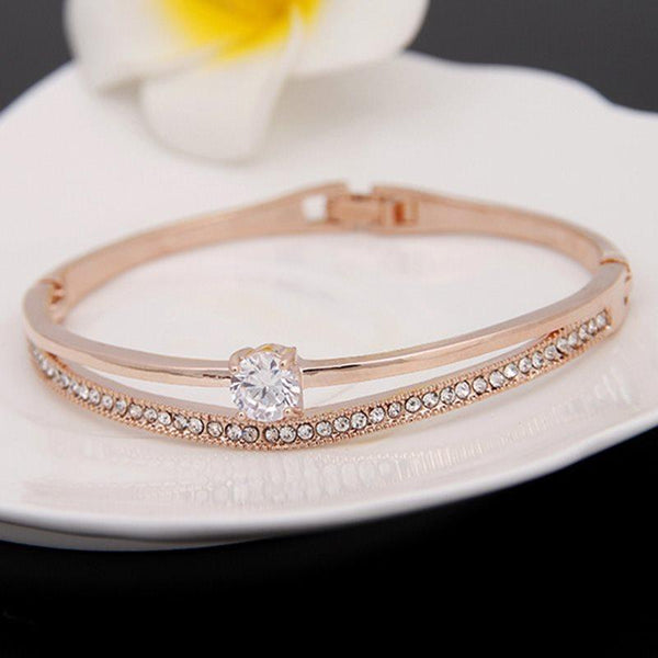 Korean Water Drop Diamante Female Bracelets