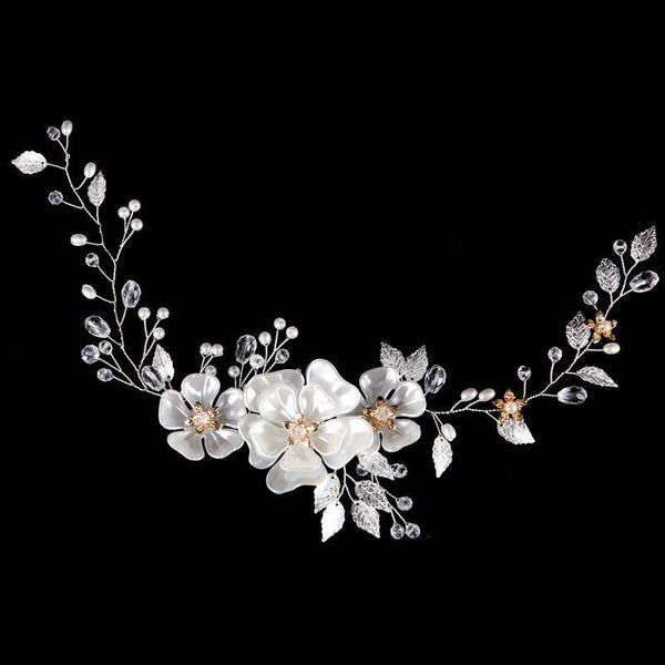 Plant Pearl Inlaid Headband Wedding Hair Accessories