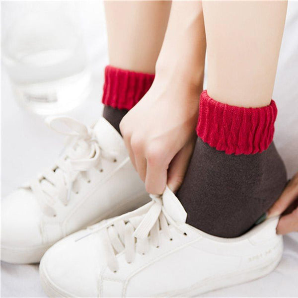 Color Block Deodorization Fall Regular Socks