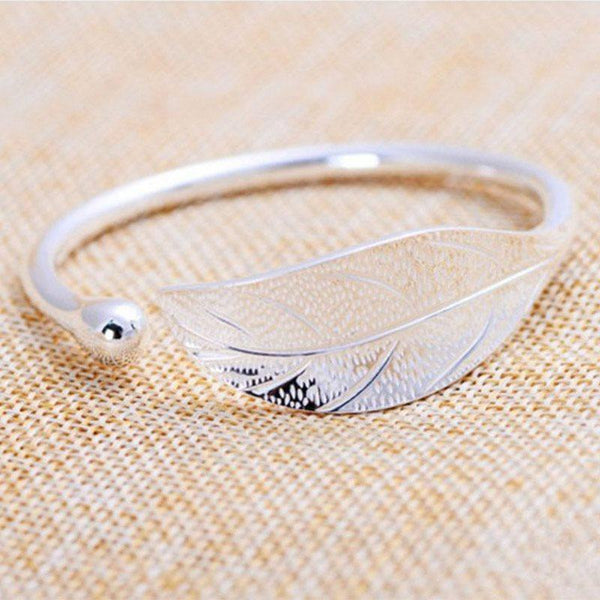 Korean E-Plating Leaf Female Bracelets