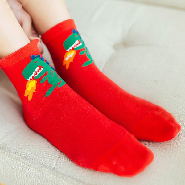 Winter Sweet Cartoon Regular Socks
