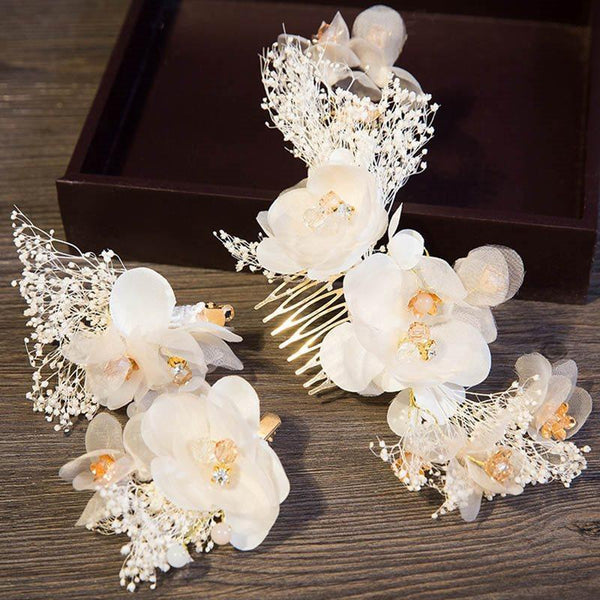 Hair Comb Plant E-Plating Birthday Hair Accessories