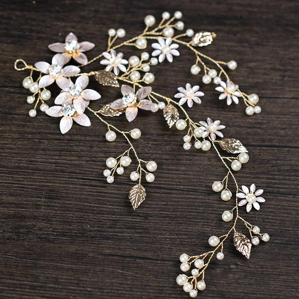 Plant Pearl Inlaid Korean Prom Hair Accessories