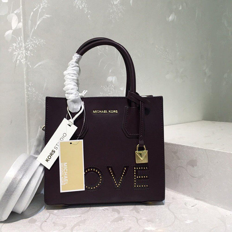 Leather Letter Rivet Square Tote Bags