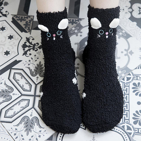 Warm Winter Fleece Socks