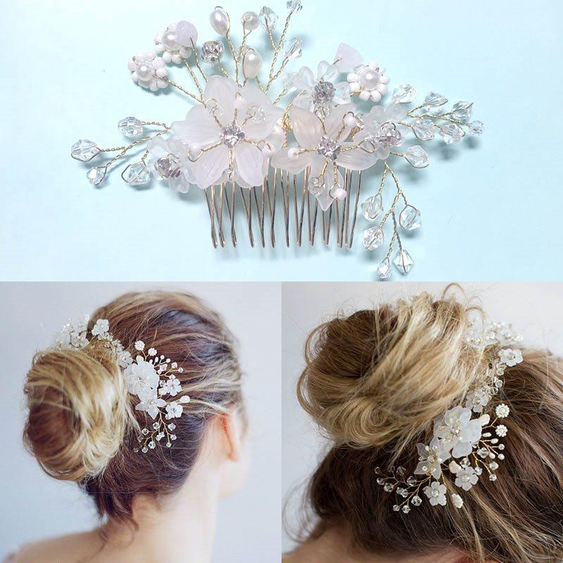 Plant Hair Comb Pearl Inlaid Gift Hair Accessories