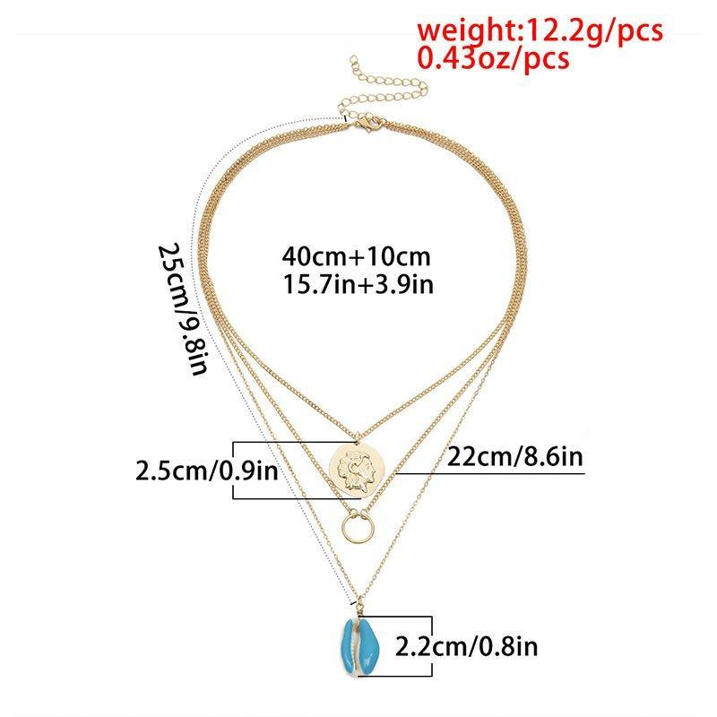 Pendant Necklace Vintage E-Plating Female Necklaces