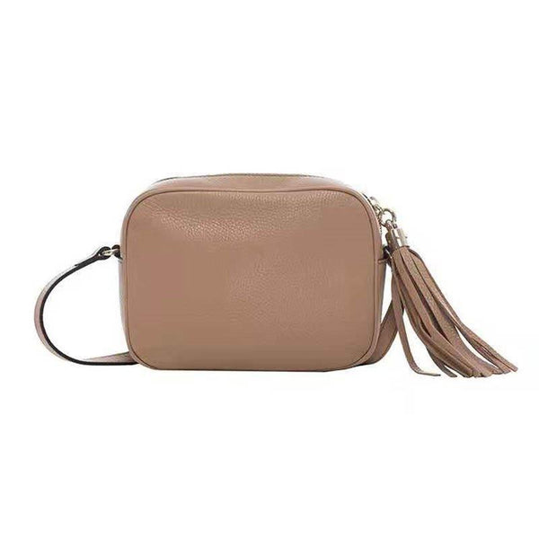 Thread Plain PU Flap Shoulder Bags