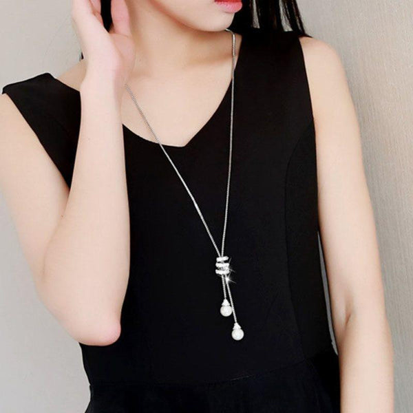 Pendant Necklace Gemmed Geometric Female Necklaces
