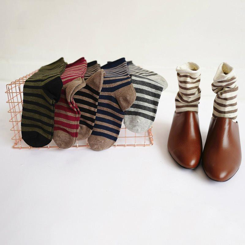 Stripe Fall Deodorization Regular Socks