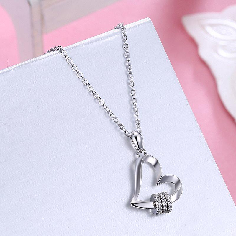 Heart-Shaped E-Plating Pendant Necklace Female Necklaces