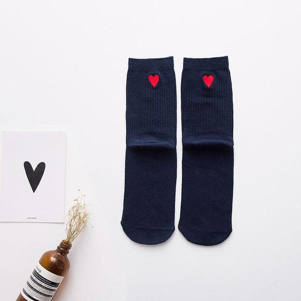 Fall Heart Deodorization Regular Socks