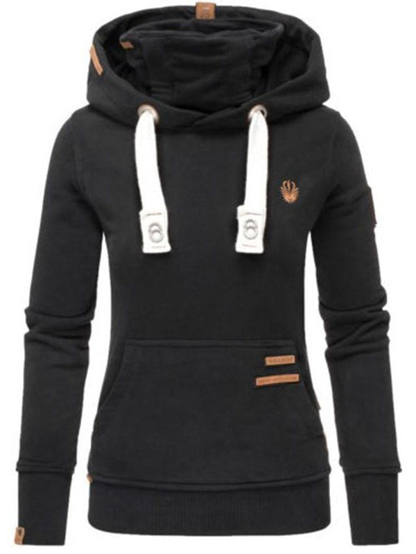 Pocket Mid-Length Long Sleeve Hoodie