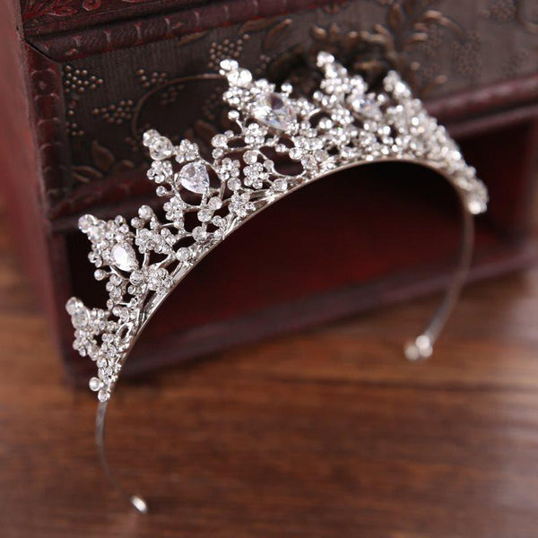 Crown Crystal Inlaid Tiara Birthday Hair Accessories
