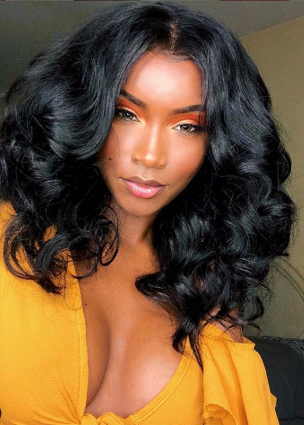 Lace Front Cap Body Wave Women Human Hair 120% Wigs