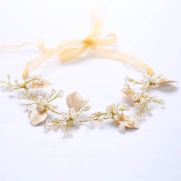 Hairband Plant Pearl Inlaid Anniversary Hair Accessories