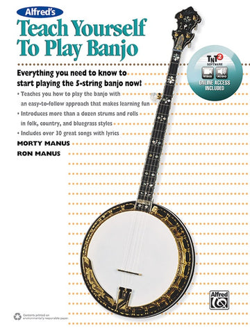 Used Alfred's Teach Yourself to Play Banjo Book