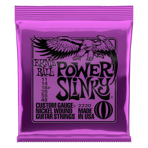 Ernie Ball Nickel Wound Electric Guitar Strings Power Slinky