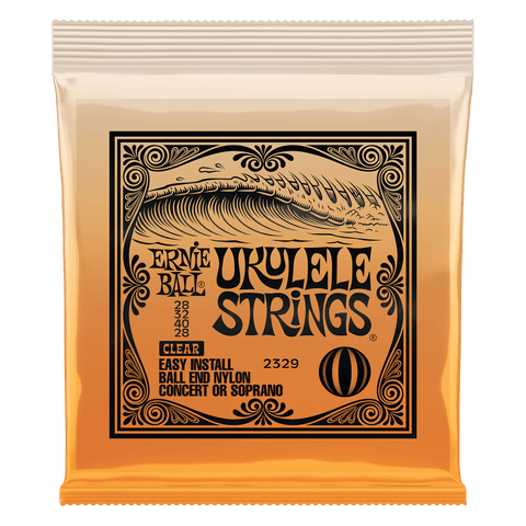 Ernie Ball Ball End Ukulele Strings, Clear