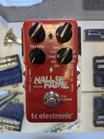 "Used TCElectronic ""Hall of Fame"" Reverb Pedal"