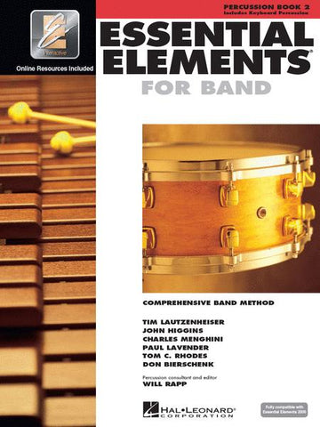 Essential Elements 2000 for Band - Book 2 with EEi (Percussion/Keyboard Percussion)