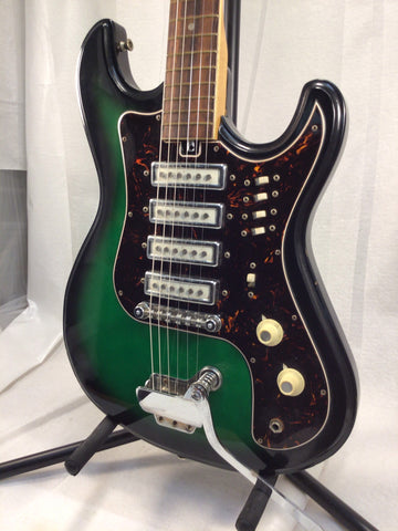 Used Green Kimbery 4-Pickup Electric Guitar