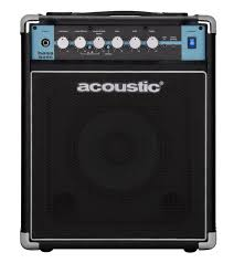 Acoustic B25C 1X8 25W Bass Combo with Tilt-Back Cab Black