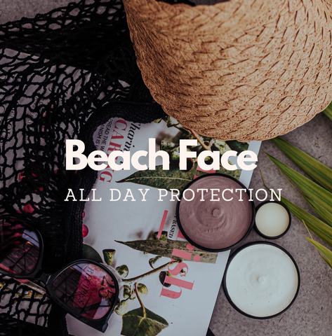 Beach Face all day protection with SPF