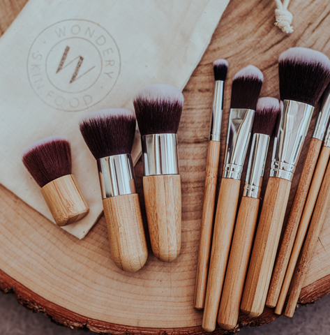 Natural Bamboo Make Up Brush Set