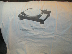 Classic TURNTABLE Grey T Shirt XL By Simple Plain Vinyl DJ Techno