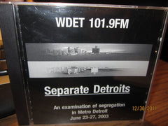 "WDET Detroit 2003 ""Seperate Detroits"" Segregation CD Sealed"