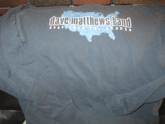 DAVE MATTHEWS BAND 2004 Vote For Change Long Sleeve Blue T Shirt Medium