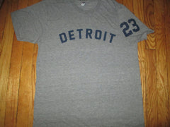 1968 Tigers #23 Willie Horton Road Jersey Style T Shirt Large