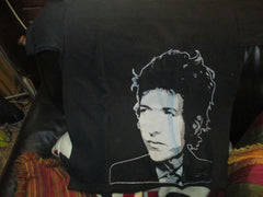 BOB DYLAN Young Photo Black T Shirt Medium
