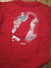 Detroit Red Wings 2009 Stanley Cup Finals T Shirt Medium Reebok