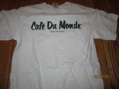 Cafe Du Monde New Orleans Logo TB Shirt Small Coffe Bignets
