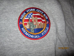 9-11 Memorial Field New York City Embroidered Logo T Shirt Large