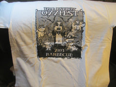 2003 OZZFEST Barbeque DTE Detroit T Shirt Large Brand New OZZY OSBOURNE