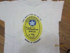 Stella Lager Egypt Logo T Shirt Medium Beer