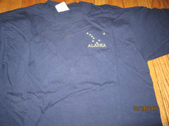 Alaska Embroidered Logo Navy T shirt Large