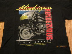 Harley Owners Group 1999 Michigan Rendezvous T Shirt Medium