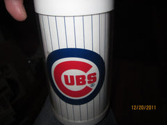 Chicago Cubs Logo 6 1/2 Inch Tall Plastic Thermos Mug