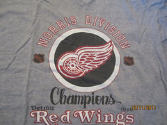 Detroit Red Wings 1988 Norris Division Champs T Shirt XL Vintage