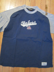Columbus Blue Jackets Logo Raglan T Shirt Medium By Roger Edwards