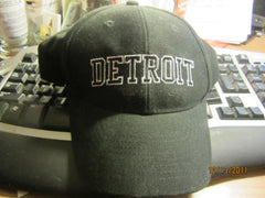 Detroit Black Adjustable Hat