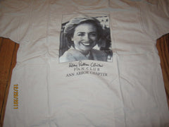 Hilary Rodham Clinton Fan Club Ann Arbor Chapter T Shirt XL