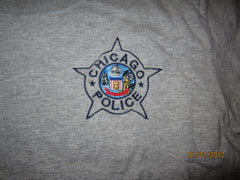 Chicago Police Embroidered Logo Grey T Shirt Small